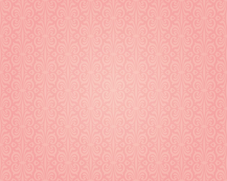 retro pattern: Pink colorful retro wallpaper background seamless design pattern Illustration