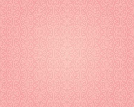 Pink colorful retro wallpaper background seamless design pattern Illustration