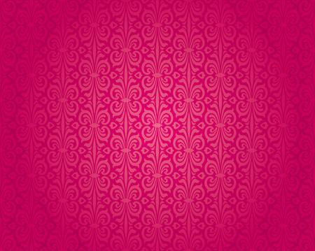 red wallpaper: Retro red vintage wallpaper pattern seamless background design