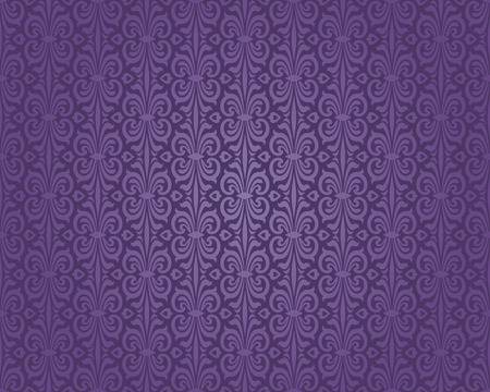 Retro violet decorative vintage pattern wallpaper background