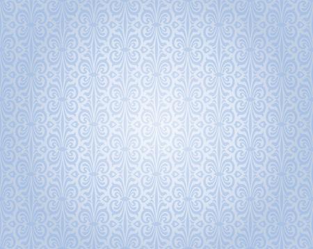 blauw zilveren vintage behang achtergrond herhalend patroon ontwerp