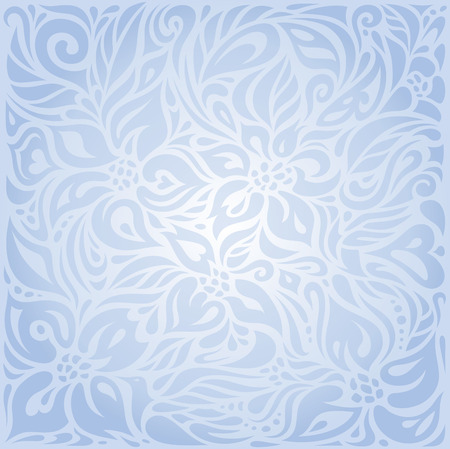 vector background: Blue floral vector invitation decorative background design