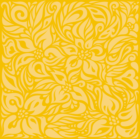Yellow colorful floral wallpaper background  pattern design
