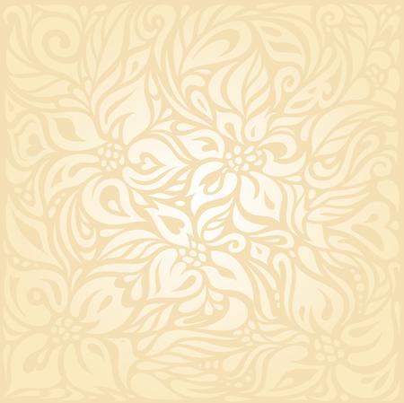 boda floral retro melocotón pálido diseño de fondo de la invitación