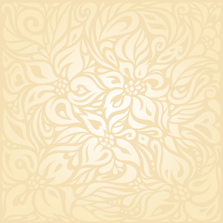 Floral Retro wedding pale peach invitation background design