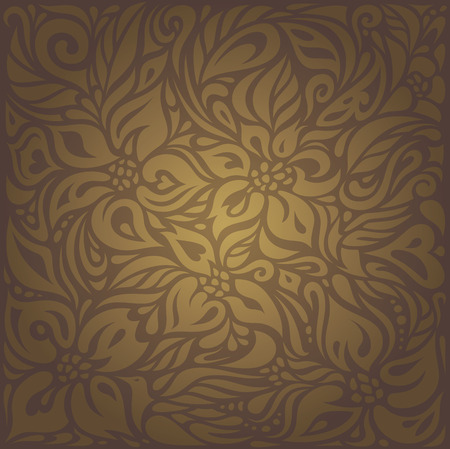 Brown Vintage floral vector Hintergrund Wallpaper Design