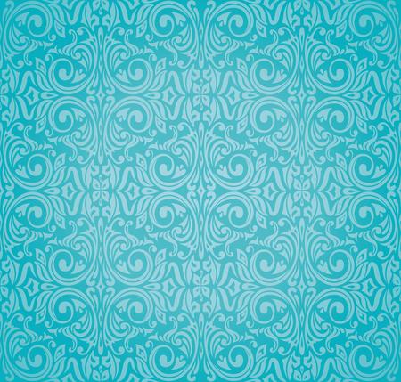 Turquoise  floral holiday vintage background design