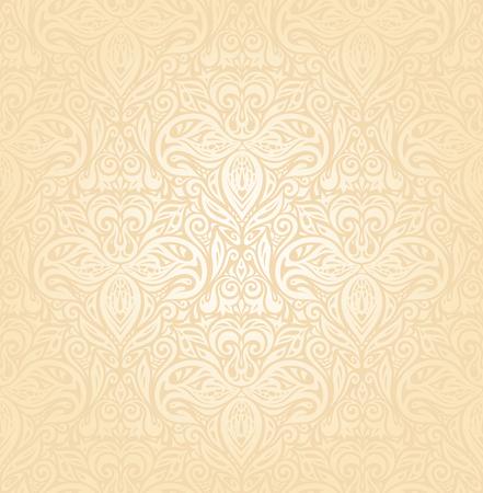Bridal Retro wedding pale peach invitation background design in vintage style 向量圖像