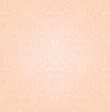 Wedding floral Pale ecru decorative vector pattern wallpaper design