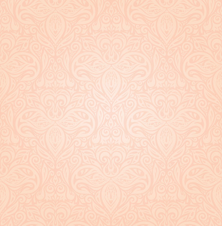 Wedding floral Pale ecru decorative vector pattern wallpaper design