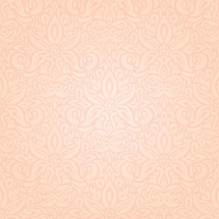 Wedding floral Pale ecru decorative pattern wallpaper design