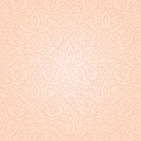Wedding floral Pale ecru decorative pattern wallpaper design