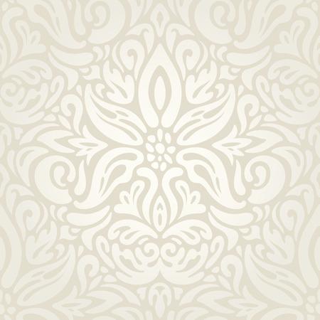 Wedding Floral decorative vintage Background Ecru Bege pale wallpaper pattern fashion decorative design