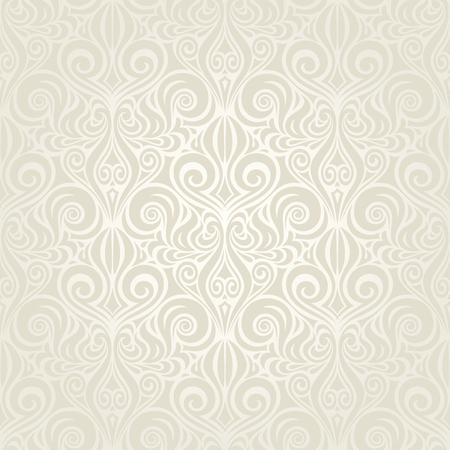 Wedding Floral decorative vintage Background Ecru Bege pale wallpaper pattern design