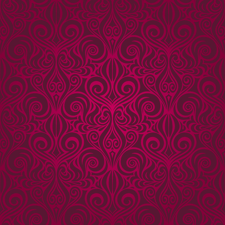 Dark Red decorative Flowers, floral ornate decorative vector pattern wallpaper repeatable design Background Çizim
