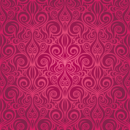 Red Gorgeous  ornate decorative Floral fashion background wallpaper repeatable design
