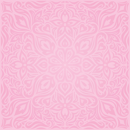 Floral Pink vector wallpaper trendy fashion mandala design wedding decorative background