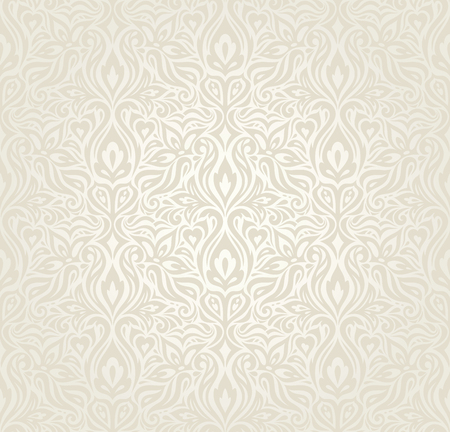 Wedding Floral decorative vintage Background Ecru Bege pale wallpaper pattern design