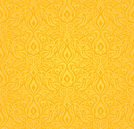 Yellow colorful floral wallpaper background  floral pattern design