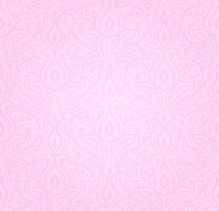 Wedding floral Pink decorative vector pattern wallpaper design Stock Illustratie