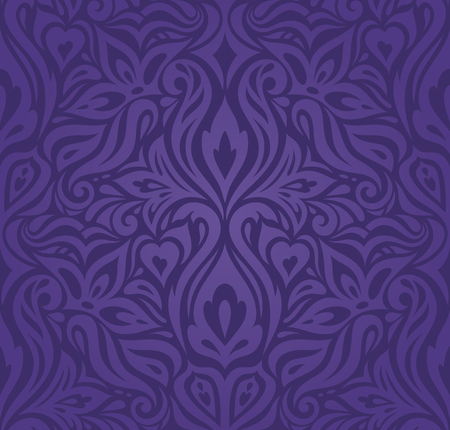 Violet purple Floral  vintage seamless pattern background fashion design holiday wallpaper pattern