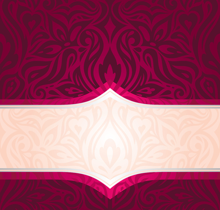Royal Red Floral Background with gold elements luxury vintage invitation curvy decorative design wallpaper