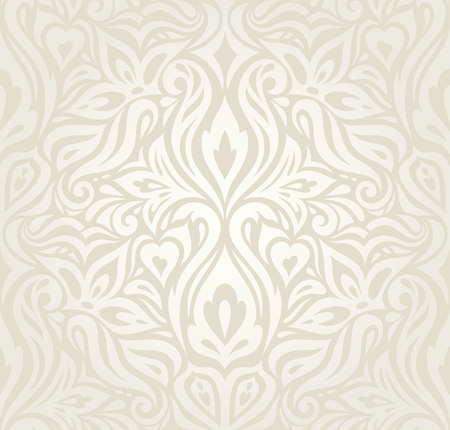 Wedding Floral decorative vintage Background Ecru Bege pale wallpaper pattern fashion decorative vector design