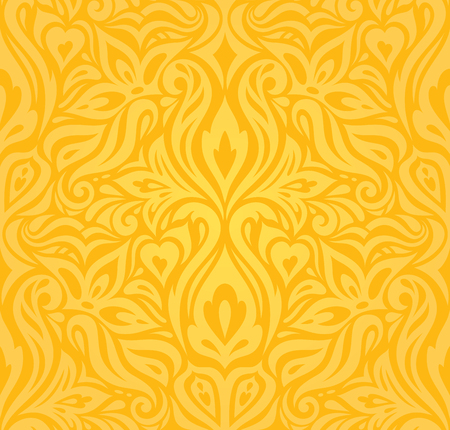 Yellow colorful floral wallpaper background  floral pattern fashion decoartive trendy design Stock Illustratie