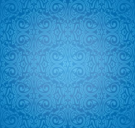Turkish dark blue vector pattern wallpaper design background