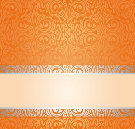 Orange Retro colorful wallpaper background with copy space