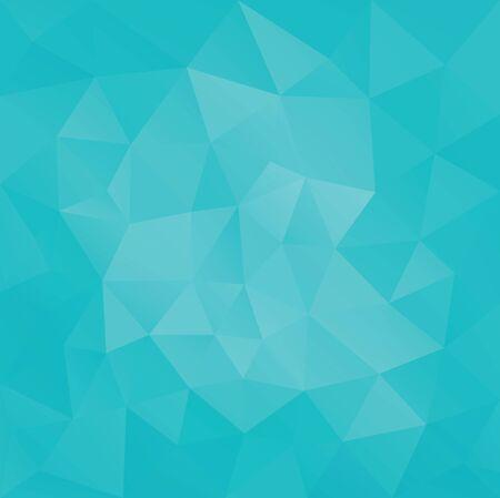 Laag poly Geometrisch facet driehoekig groenTurquoise bannerachtergrond
