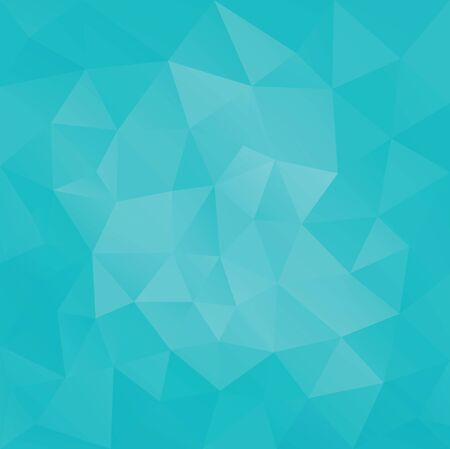 Low poly Geometric facet triangular greenTurquoise banner background