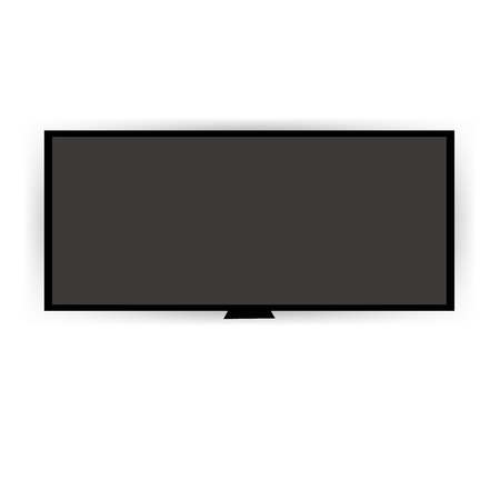 lcd: A Smart TV Mock-up, Vector TV Screen, LED TV hanging on the wall. Illustration