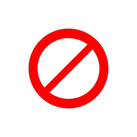 prohibiting signs icon Illustration