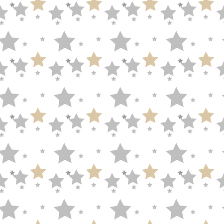 Star seamless pattern. Chaotic elements. Abstract geometric shape texture. Effect of sky. Design template for wallpaper,wrapping, textile. Vector Illustration