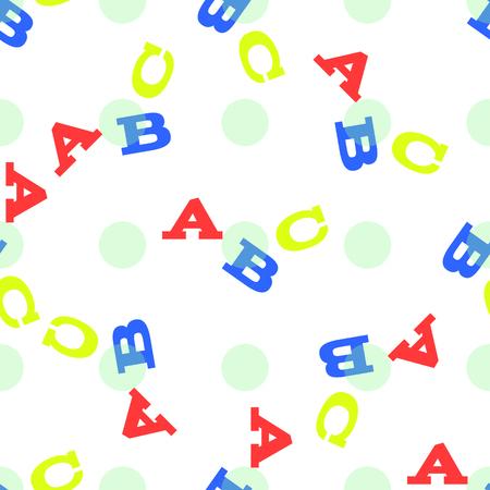 ABC background seamless pattern