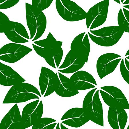 Seamless leaves pattern Иллюстрация