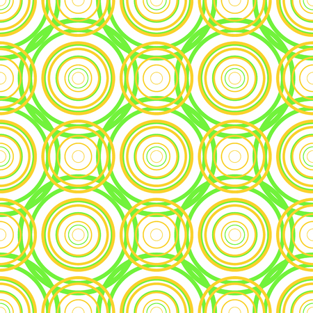 Vector illustration of seamless pattern with circles.