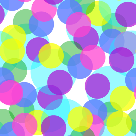 Background of colorful circles seamless, vector illustration.