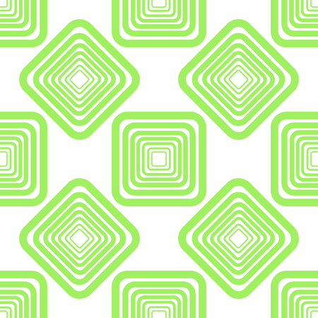 Geometric ornament pattern. Vector seamless texture with carved diagonal lattice, rounded shapes, squares. Abstract monochrome ornamental background. Design for decor, fabric, furniture, ceramic Illustration