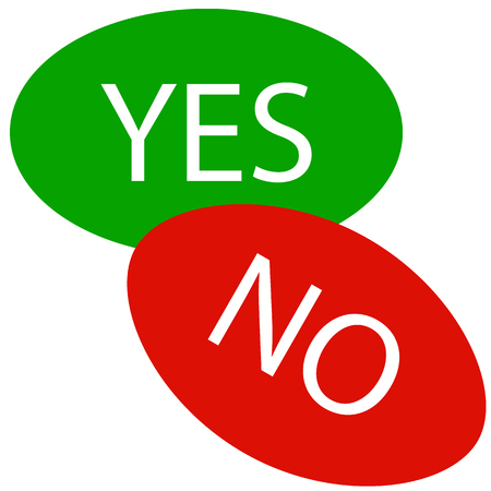 Yes and No icons  web buttons. Vector illustration