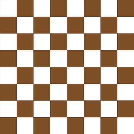 Vector seamless pattern simulates a brown and white chessboard.