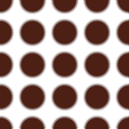 Sun seamless pattern background. Business flat vector illustration. Sun with ray sign symbol pattern. Illustration
