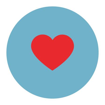 heart love icon - heart symbol, valentine day - romance illustration isolated Illustration