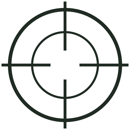 Crosshair icon. Flat illustration of crosshair vector icon for web design
