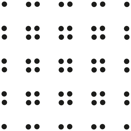 Black and white seamless polka dot pattern vector