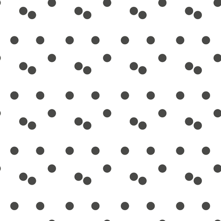 Black and white seamless polka dot pattern vector