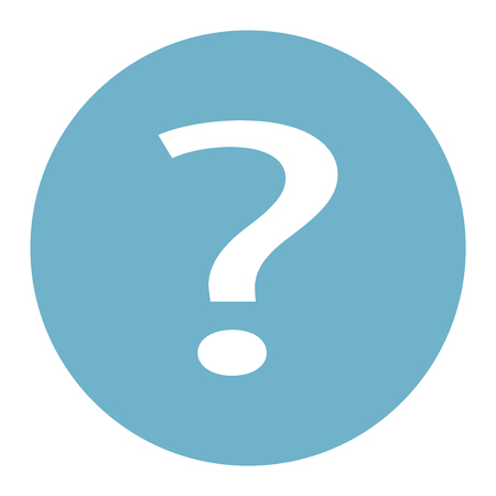 Question icon flat vector illustration query signsymbol. For mobile user interface