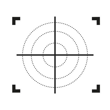 Ikona celownika. Płaska ilustracja ikony wektora celownika do projektowania stron internetowych