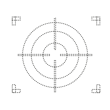 Crosshair icon. Flat illustration of crosshair vector icon for web design